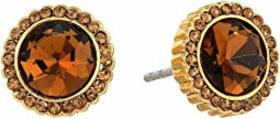 Fossil Topaz Glitz Stud Earrings