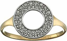 Fossil Double Crystal Circle Glitz Ring