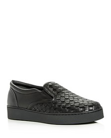 Bottega Veneta - Women's Woven Slip-On Sneakers