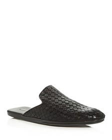 Bottega Veneta - Men's Woven Leather Slippers