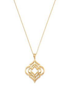 Bloomingdale's - Geometric Pendant Necklace in 14K