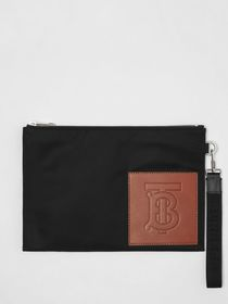 Burberry Monogram Motif Zip Pouch in Black