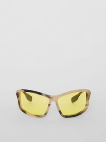 Burberry Wrap Frame Sunglasses in Yellow