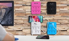 Aduro Surge Protector with USB Ports (1- or 2-Pack