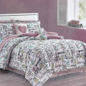LIMITED TOO Playful Unicorn Twin 7-Piece Bedding S