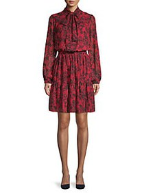 MICHAEL Michael Kors Floral-Print Blouson Dress RE