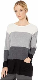 Vince Camuto Two-Pocket Waffle Stitch Color Block