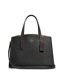 COACH Charlie Leather Carryall BLACK