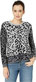 Vince Camuto Long Sleeve Leopard Jacquard Pullover