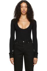 Bottega Veneta Black Scoop Neck Bodysuit