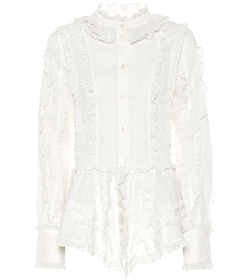 See By Chloé Ruffled cotton blouse