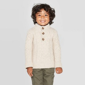 Toddler Boys' Shawl Collar Pullover Sweater - Cat