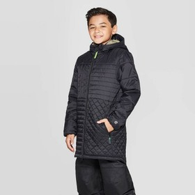 Boys' Long Puffer Jacket - C9 Champion® Black