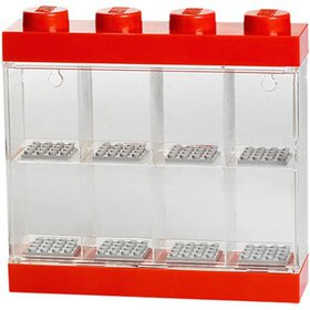 LEGO Minifigure Display Case 8, Bright Red