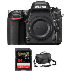 Nikon D750 DSLR Camera Body and Accessories Kit