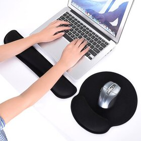 SBR Memory Foam Keyboard Wrist Rest Pad and Mouse
