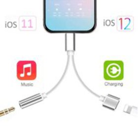 Lightning to 3.5 mm headphone jack adapter for iPh