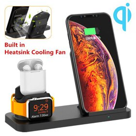 3 in 1 Wireless Fast Charger Pad Stand Charging Do