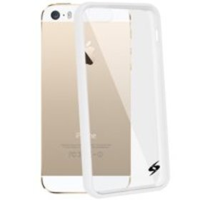 iPhone 5 5S SE Shockproof Clear Case White Trim Bu