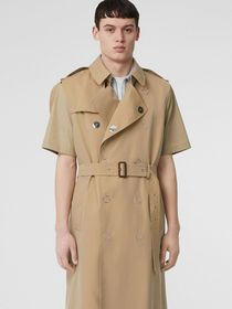 Burberry Sleeveless Cotton Gabardine Trench Coat i
