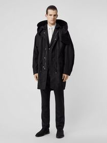Burberry Detachable Hood Monogram ECONYL® Jacquard