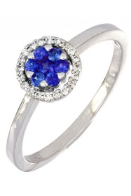 Bony Levy 18K White Gold Blue Sapphire & Diamond F