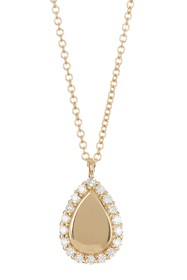 Bony Levy 18K Yellow Gold Pave Diamond Teardrop Pe