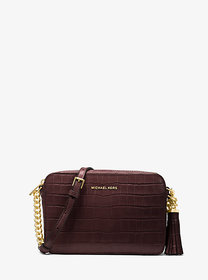 Michael Kors Ginny Medium Crocodile-Embossed Leath
