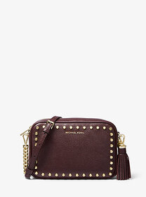 Michael Kors Jet Set Medium Studded Leather Camera