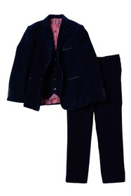 Isaac Mizrahi 3-Piece Solid Velvet Suit (Toddler