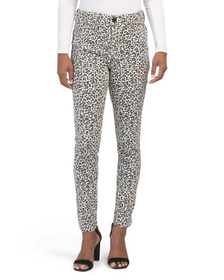 SEVEN7 High Rise Leopard Printed Skinny Jeans