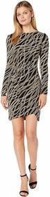 MICHAEL Michael Kors Bias Link Wrap Skirt Dress