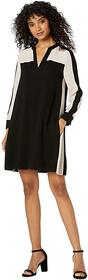 BCBGMAXAZRIA Color Block Shift Dress