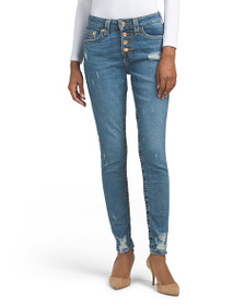 TRUE RELIGION High Rise Jennie Raw Hem Jeans