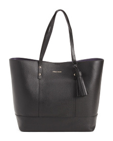 reveal designer Leather Bayleen Tote