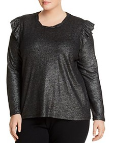 MICHAEL Michael Kors Plus - Foiled Ruffle Top