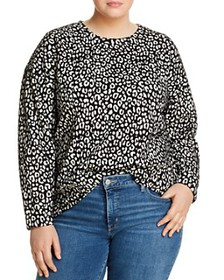 MICHAEL Michael Kors Plus - Leopard Jacquard Sweat