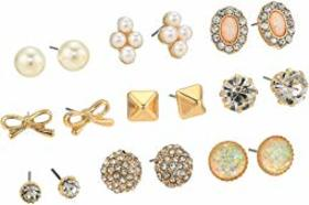 Steve Madden 9-Pair Stud Earrings Set