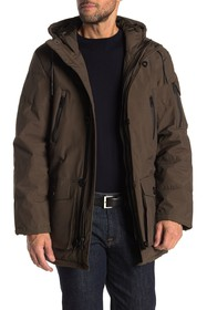 Cole Haan Quilted Drawstring Hood Jacket