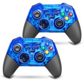 TSV 2 Pack Wireless Switch Pro Game Controller for