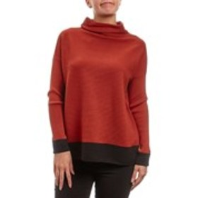 ANGELENO Ribbed Mock Neck Pullover Sweater