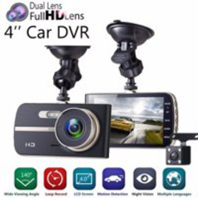 1080P Full HD Dual Lens Car DVR Camera 4.0 Inch LC