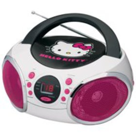 Hello Kitty Portable Stereo CD Boombox with AM/FM