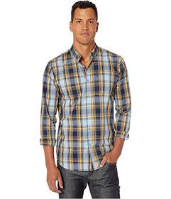 Ben Sherman Long Sleeve Large Plaid Button-Up Shir