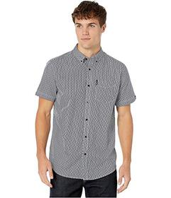 Ben Sherman Short Sleeve Polka Stripe Print Shirt