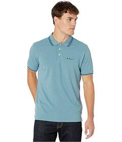 Ben Sherman Stripe Tipped Pique Polo