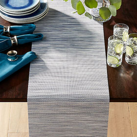 Crate Barrel Chilewich ® Ridge Blue Table Runner