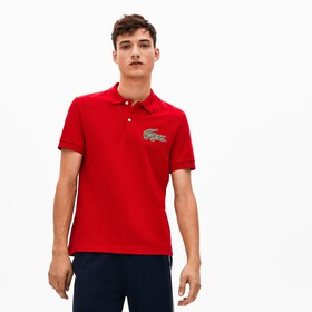 Lacoste Men's Regular Fit Croco Magic Cotton Piqué