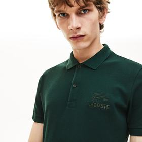 Lacoste Men's Regular Fit Embroidered- Logo Cotton