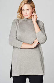 Fit Fleece Mock-Neck Tunic